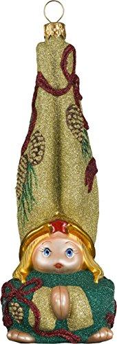 Glitterazzi Gnome Golden Cone Angel Ornament by Joy to the World