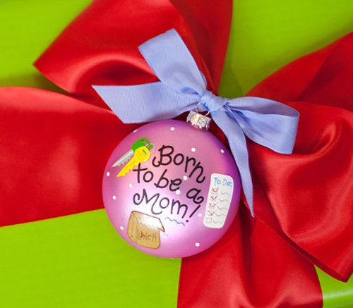 Born to be a Mom Ornament by Coton Colors