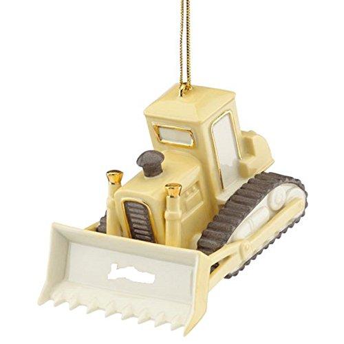 Lenox Christmas Bulldozer Ornament Heavy Equipment Dozer Construction Gift NEW