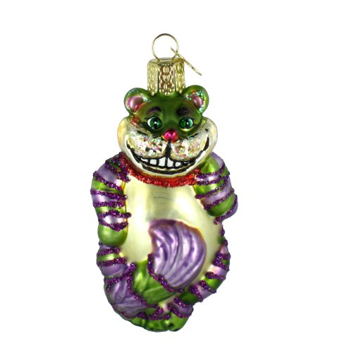 Old World Christmas Cheshire Cat Glass Blown Ornament