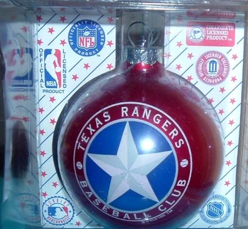 Texas Rangers Baseball Club Sports Collectors Series Glass Ornament 2005