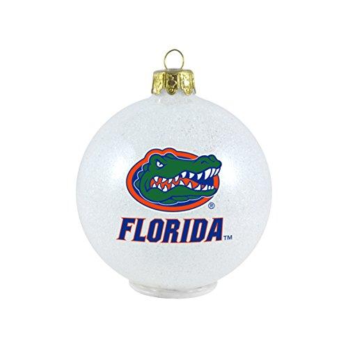 NCAA Florida Gators LED Color Changing Ball Ornament, 2.625″, White