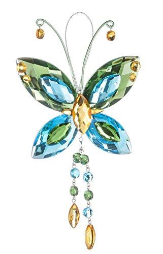 Crystal Butterfly Sun Catcher / Ornament – Green/blue/yellow