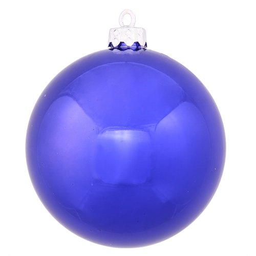 Vickerman 6″ Cobalt Blue Shiny Ball Ornament 4 per Box