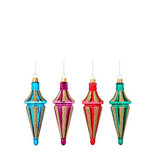 Sage & Co. XAO18828MU Shatterproof Finial Drop Ornament (4 Styles) (24 Pack)