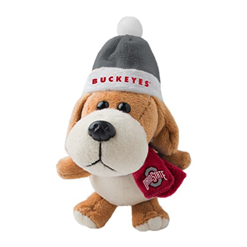 NCAA Ohio State Buckeyes Plush Dog Ornament, 3″, Brown