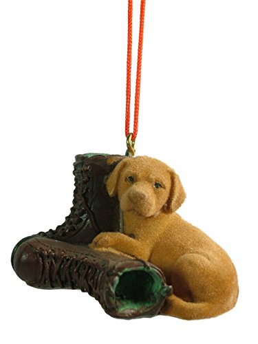 New Yellow Lab Dog Hunting Boot Christmas Tree Ornament