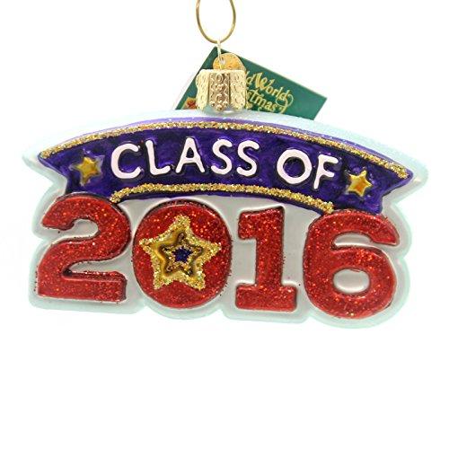 Old World Christmas CLASS OF 2016 Glass Graduation 36186