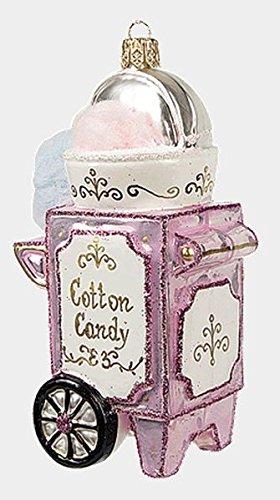 Cotton Candy Maker Machine Polish Blown Glass Christmas Ornament Decoration