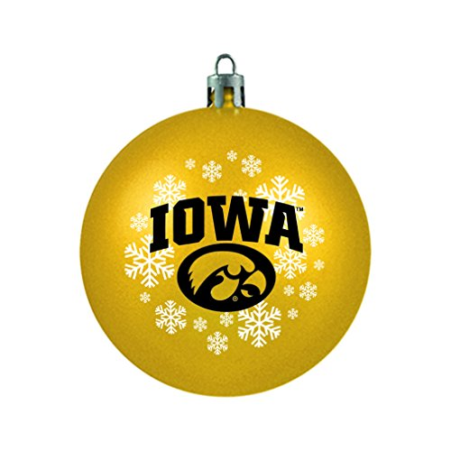 NCAA Iowa Hawkeyes Shatterproof Ball Ornament, 3.125″, Yellow