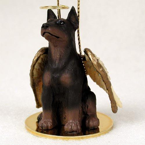 Doberman Pinscher Angel Dog Ornament – Red