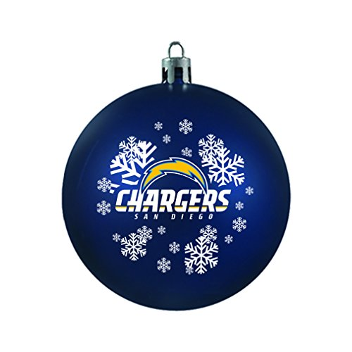 NFL San Diego Chargers Shatterproof Ball Ornament, 3.125″, Blue