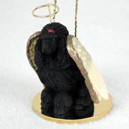 Poodle Angel Dog Ornament – Black