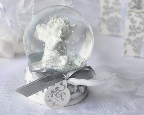 "Artisano Designs ""Angel Kisses"" Cherub Snow Globe Favor"