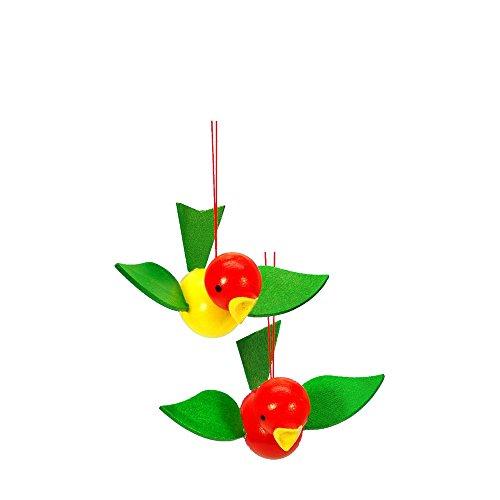 "11-0030 – Christian Ulbricht Ornament – Birds on Strings – 1.75″""H x 3.75″""W x 2.75″""D"