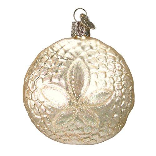 Old World Christmas Sand Dollar Glass Blown Ornament