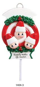 Lollipop Gang Family of 3 Ornament