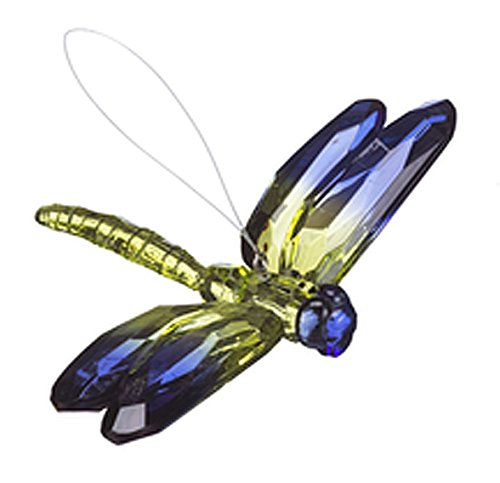 Crystal Expressions Blue and Yellow Toned Hanigng Dragonfly – By Ganz