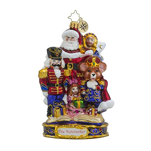Christopher Radko the End of an Adventure Santa Glass Christmas Ornament – Nutcracker Series – New for 2016 – 7″h.