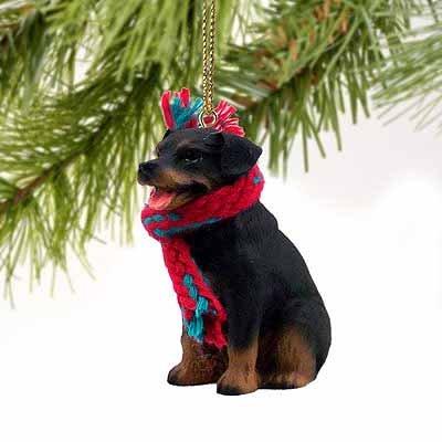 1 X Rottweiler Miniature Dog Ornament