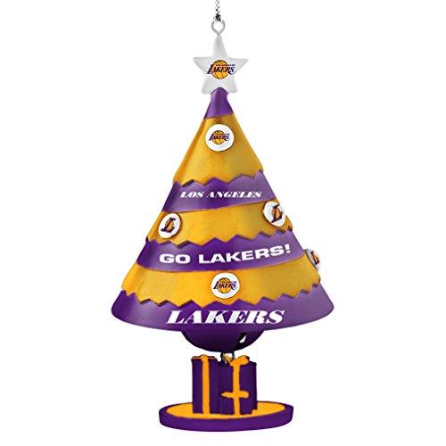 NBA Los Angeles Lakers Tree Bell Ornament, Purple, 5″