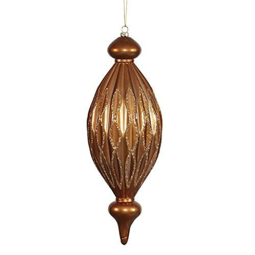 Vickerman 34237 – 12″ Copper Candy Glitter Diamond Finial Christmas Tree Ornament (M145828)