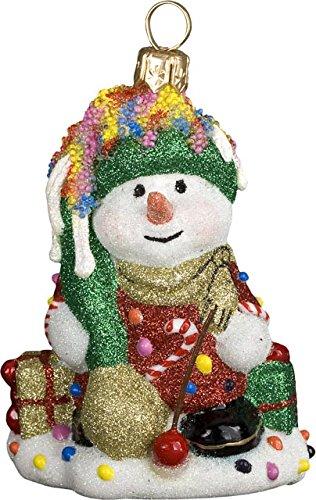 Glitterazzi Mini Candy Snowman Ornament by Joy to the World