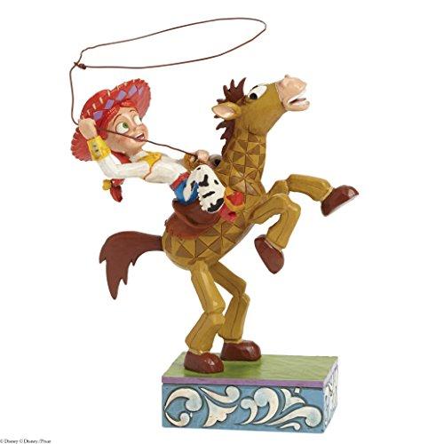 Jim Shore Disney Traditions Jessie and Bullseye Figurine, 8″
