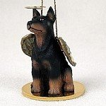 Doberman Pinscher Angel Dog Ornament – Black & Tan