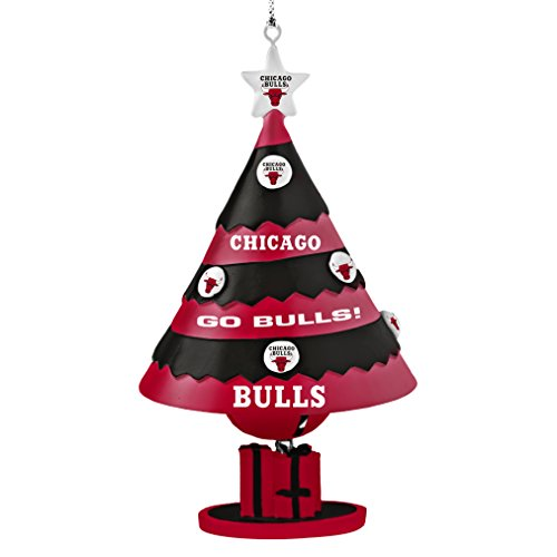 NBA Chicago Bulls Tree Bell Ornament, Red, 5″