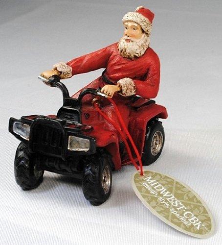 Santa Driving ATV, Resin Ornament by Midwest-CBK