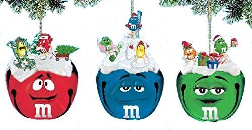 Retired Ashton-Drake Set of 3 *M&M Sleigh Bell Ornaments
