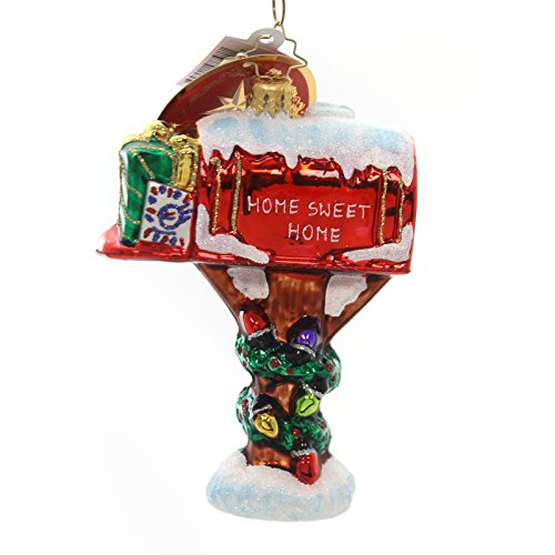 Christopher Radko Holly-Day Mail Glass Christmas Ornament