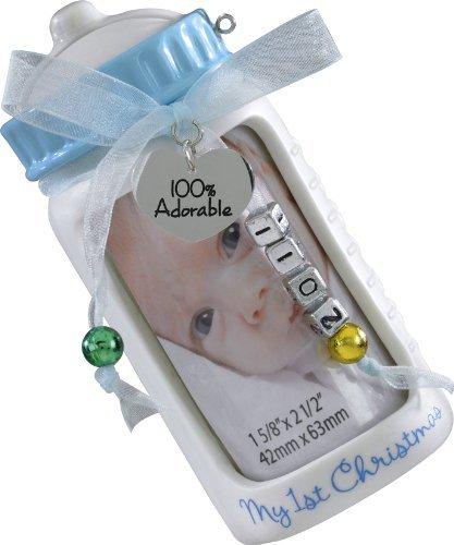Carlton Heirloom 2011 Baby Boy's First Christmas – Photo Holder / Bank Ornament #CXOR002Z