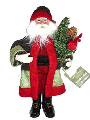 Santa's Workshop Cardinal Santa Ornament Figurine 9″