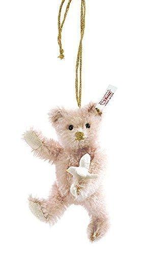 Steiff USA Teddy Bear Pink Lladro Ornament Mohair 5 inches (12cm)