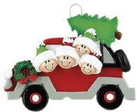 Christmas Tree Caravan of 4 Ornament