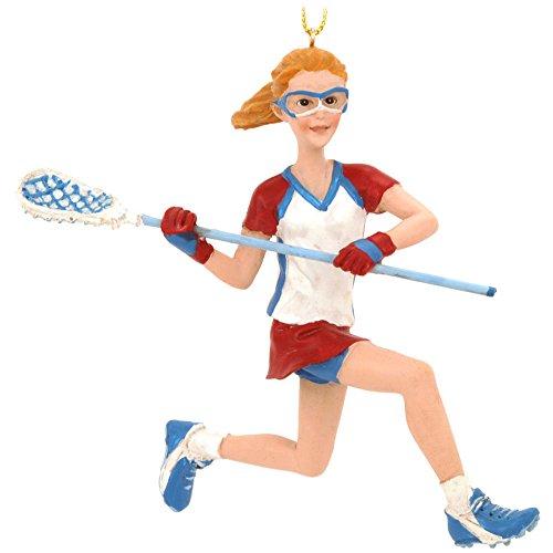 Kurt Adler Lacrosse Girl Ornament #C8593G