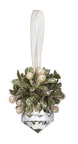 GANZ 3″ Kyrstal Kiss Ball Ornament, Teeny Jewel, Clear, Acrylic – Wedding Acrylic Kissing Crystal-like KK92