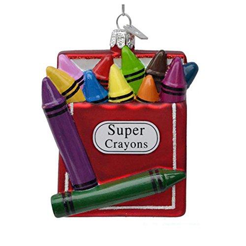 Kurt Adler 3.5″ Noble Gems Glass Super Crayons Ornament