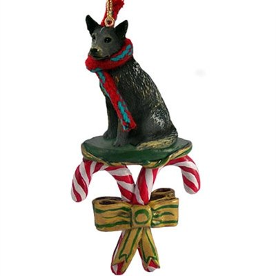 Australian Cattle Dog BLUE HEELER CANDY CANE Christmas Ornament NEW DCC87B by Conversation Concepts
