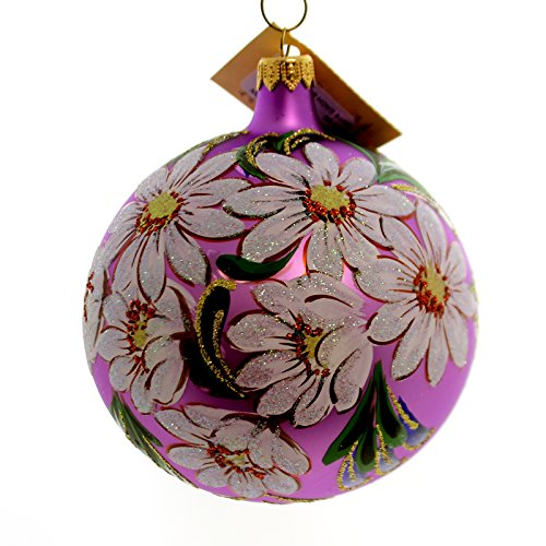 Christina's World DAISY BOUQUET Glass Ball Ornament Spring Flowers Flo652
