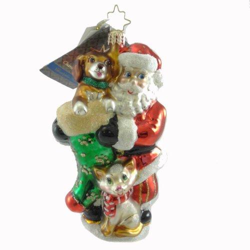 Christopher Radko Furry Friends Animal Charity Awareness Ornament