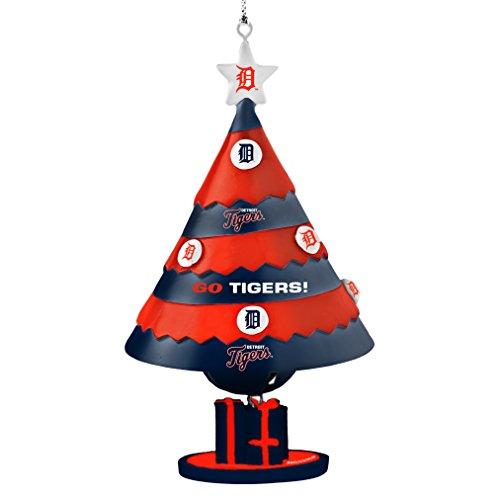 MLB Detroit Tigers Tree Bell Ornament, Blue, 5″