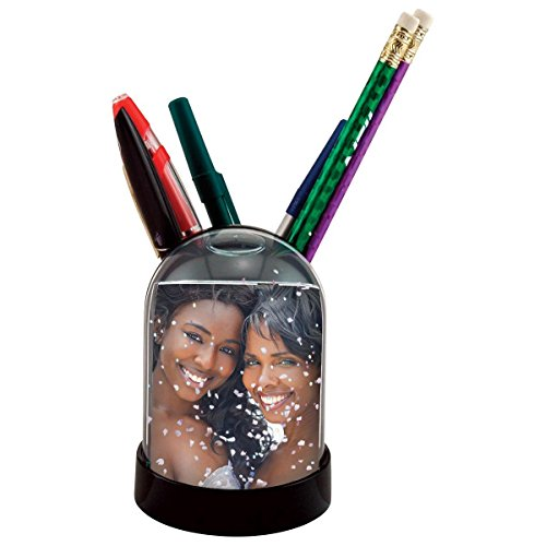 Pencil Cup Snow Globe, Holds One 2″ X 2-7/8″ Photo