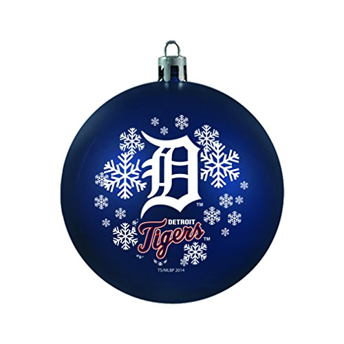 MLB Detroit Tigers Shatterproof Ball Ornament, 3.125″, Blue
