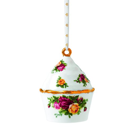 Royal Doulton Old Country Roses Cupcake Ornament, 3-Inch