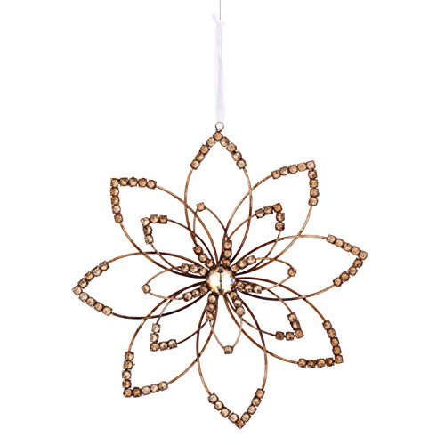 Sage & Co. XAO19388SV Crystal Flower Ornament (6 Pack)