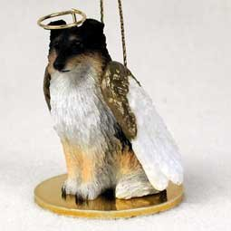 Sheltie Angel Dog Ornament – Tri Color by Conversation Concepts