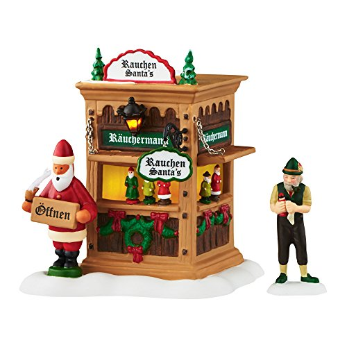 Department 56 Alpine Village Xms Market, Holiday Smoker Booth Accessory, 4.49″